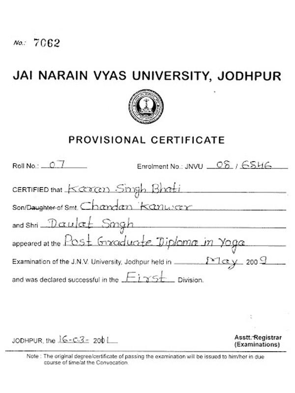 Yog Guru Karan Singh Jodhpurutamber Club Yoga Class In Jodhpur